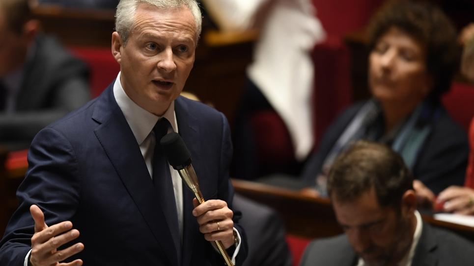Le ministre de l'Economie Bruno Le Maire à l'Assemblée nationale à Paris, le 17 octobre 2018