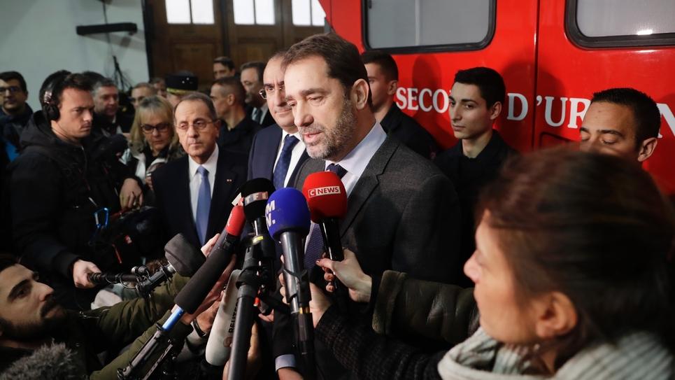 Le ministre de l'Intérieur, Christophe Castaner, lors d'un point presse le 31 décembre 2018, à Paris.