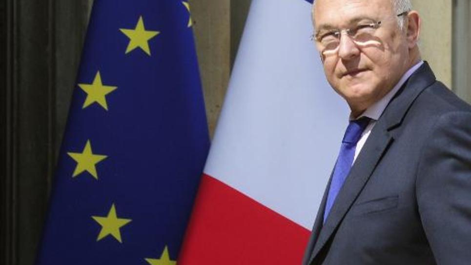 Le ministre des Finances Michel Sapin à son arrivée à l'Elysée le 19 mai 2014 à Paris