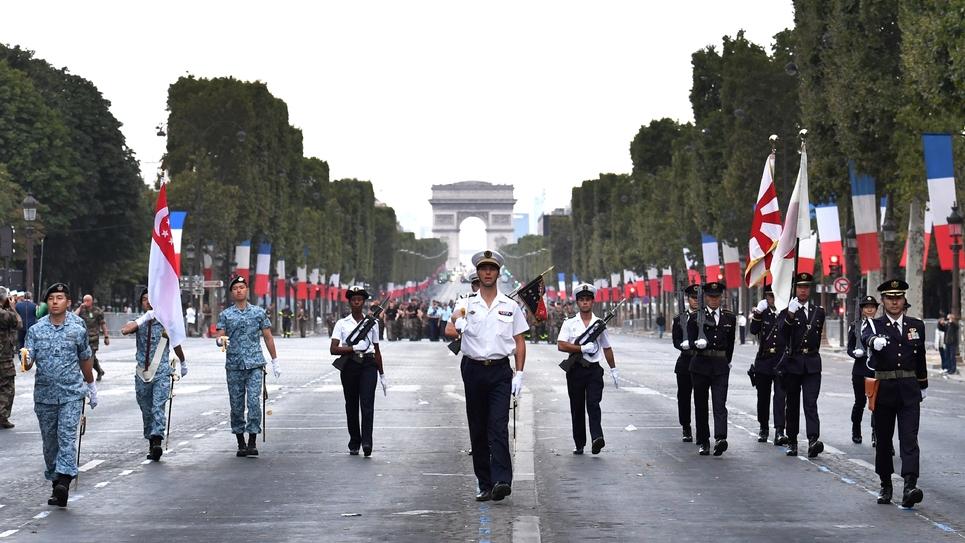 Répétitions le 11 juillet 2018 en vue du défilé du 14-juillet à Paris