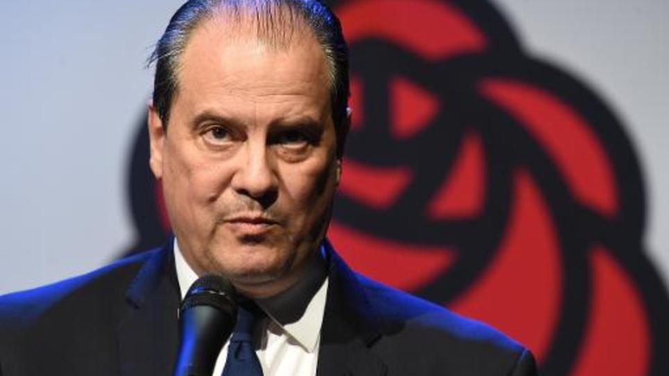 Jean-Christophe Cambadelis lors d'un meeting à un candidat socialiste le 6 mars  2015 à Montpellier