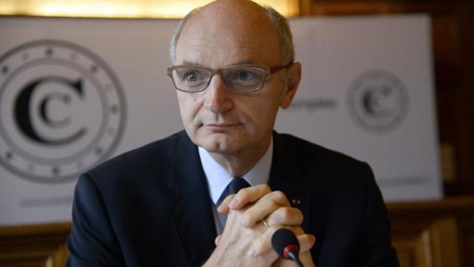 Le Premier président de la Cour des Comptes Didier Migaud lors d'une conférence de presse le 17 juin 2014 à Paris