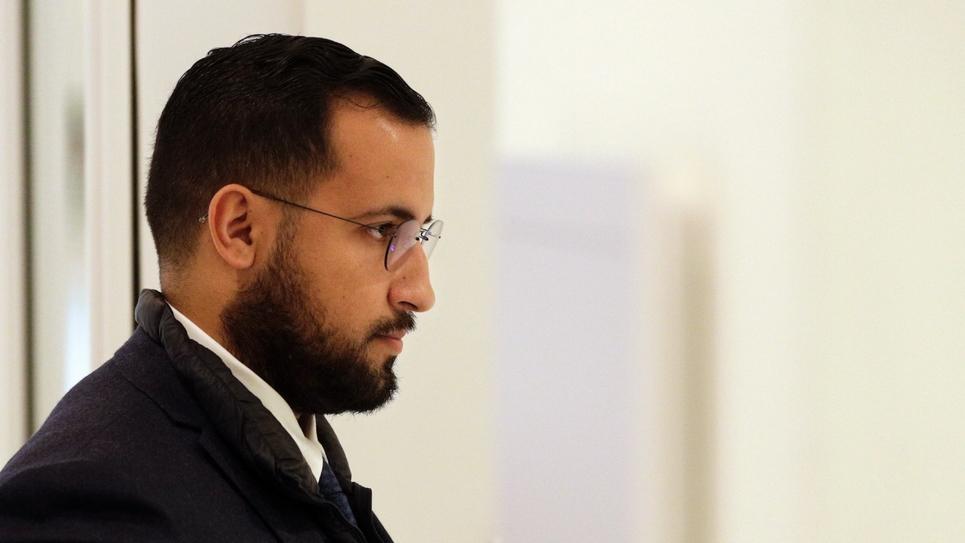 Alexandre Benalla à son arrivée au tribunal de Paris le 19 février 2019