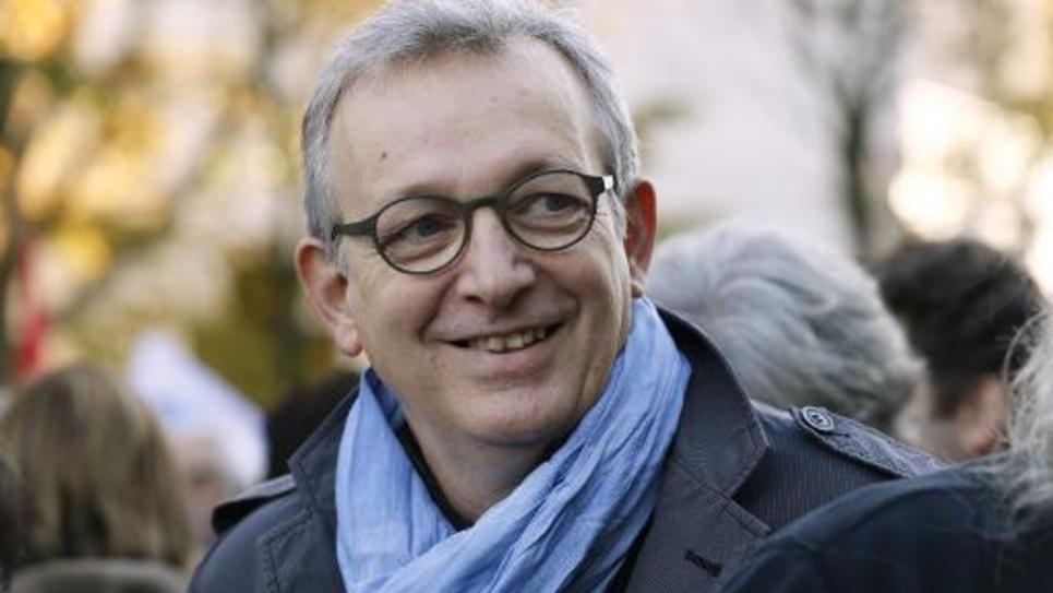 Le secrétaire national du PCF Pierre Laurent lors d'une manifestation contre la politique d'austérité, le 15 novembre 2014 à Paris