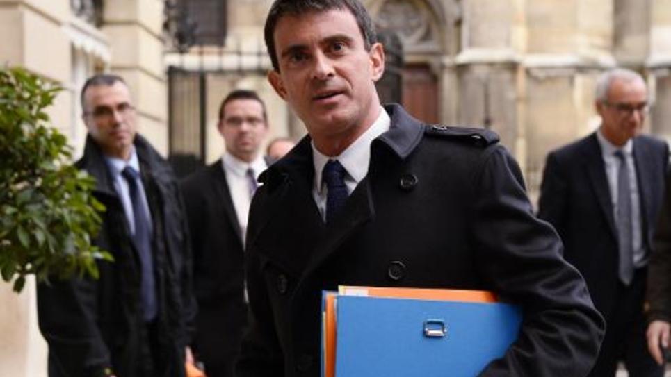 Le Premier ministre Manuel Valls à Paris le 4 novembre 2014
