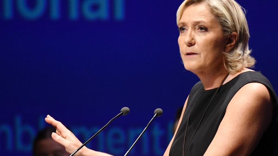 Marine Le Pen le 16 septembre 2018 à Fréjus