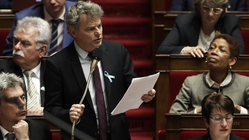 Le député communiste du Nord Fabien Roussel, à l'Assemblée nationale, le 3 avril 2018