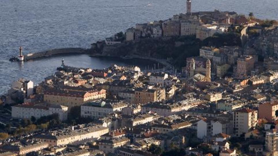 Vue générale de Bastia, le 8 novembre 2012