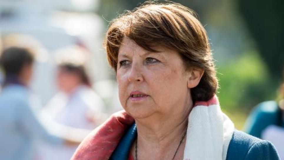 La maire socialiste de Lille Martine Aubry, le 13 septembre 2013 à Lomme (nord de la France)