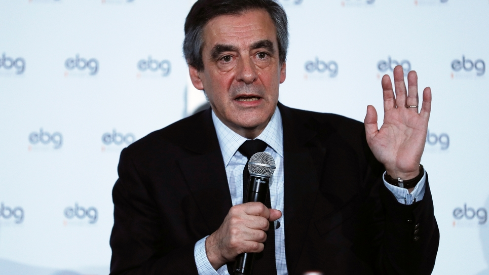 François Fillon lors d'un débat à EBG (Electronic Business Group) à Paris le 31 janvier 2017