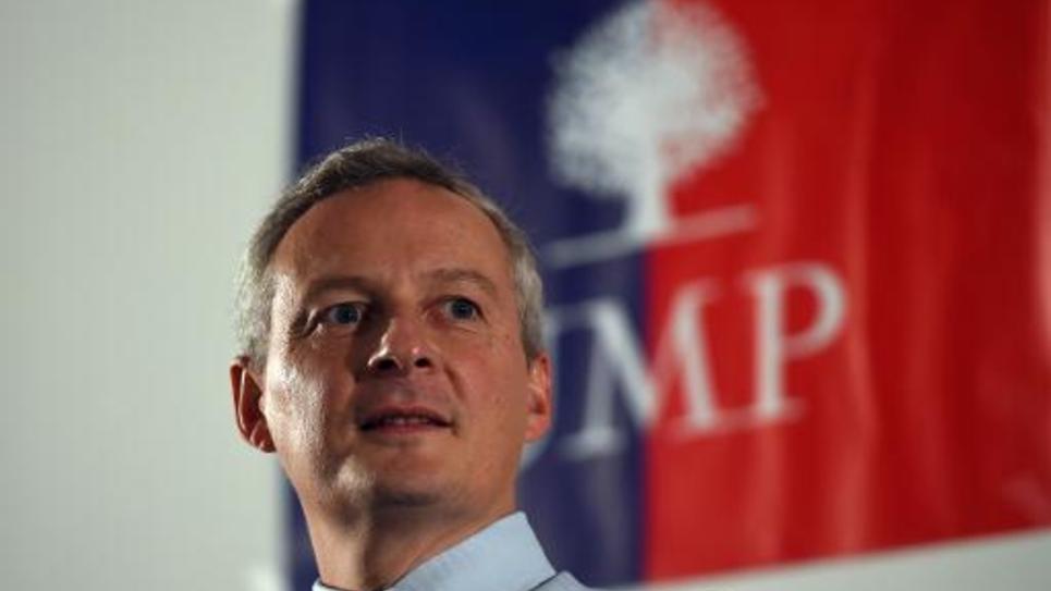 Le candidat à la présidence de l'UMP Hervé Mariton lors de l'assemblée générale du parti le 8 octrobre 2014 à Aix-en-Provence