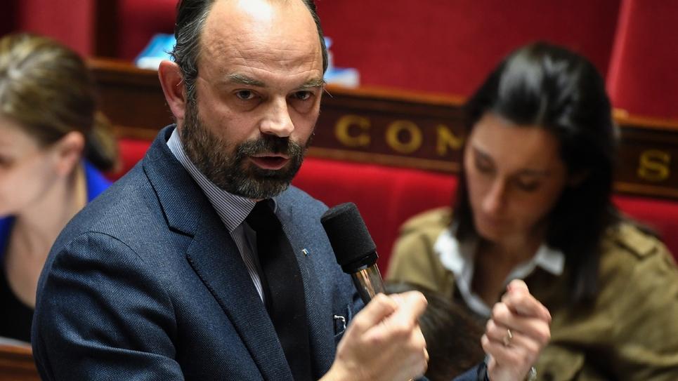 Le Premier ministre Edouard Philippe à l'Assemblée nationale, le 20 mars 2019 à Paris