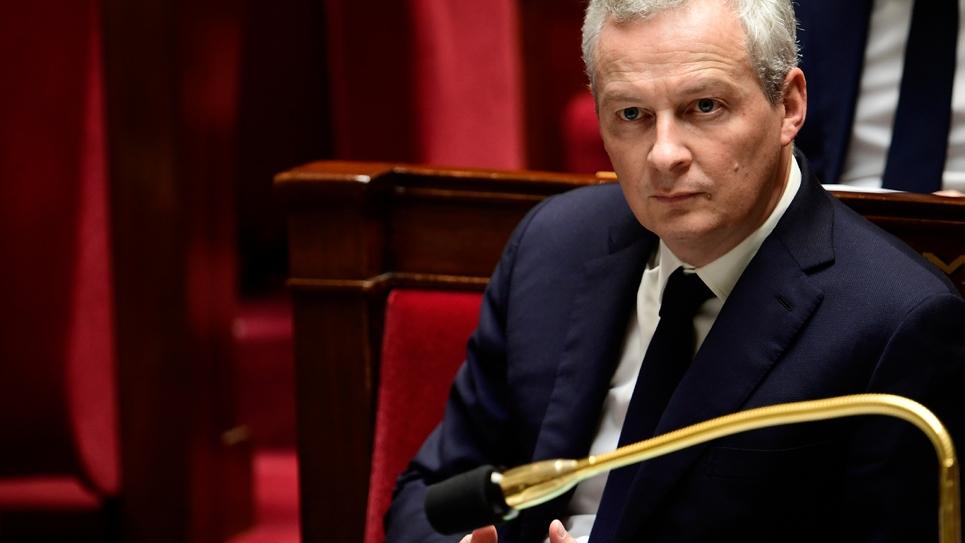 Le ministre français de l'Economie Bruno Le Maire à l'Assemblée nationale à Paris, le 15 novembre 2017