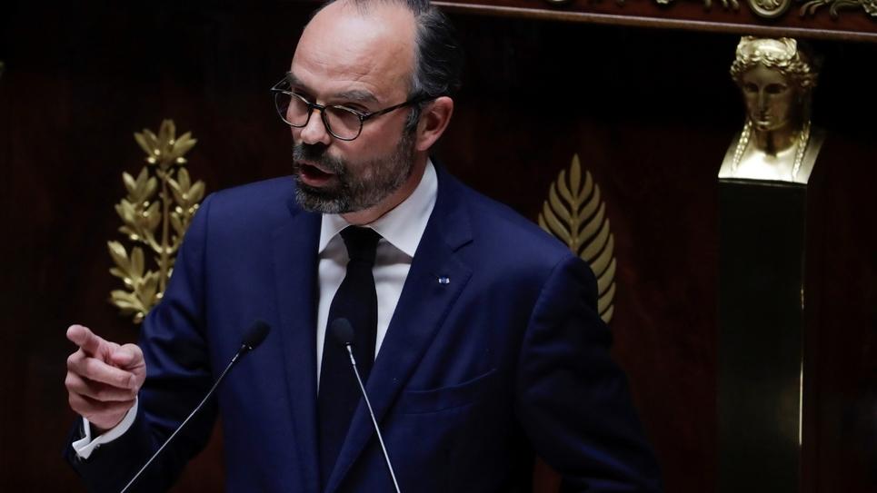 Le Premier ministre Edouard Philippe lors d'un discours sur le grand débat nationale à l'Assemblée nationale le 9 avril 2019