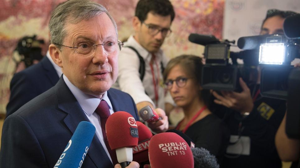 Le président de la commission des lois du Sénat Philippe Bas, le 31 juillet 2018 à Paris