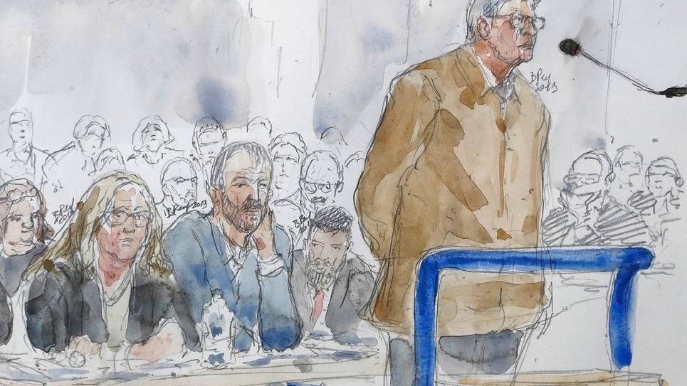 Jean-Luc Melenchon devant le tribunal correctionnel de Bobigny (Seine-Saint-Denis) le 19 septembre 2019