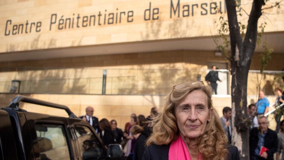 La ministre de la Justice, Nicole Belloubet, visite la prison des Baumettes, à Marseille le 26 octobre 2018