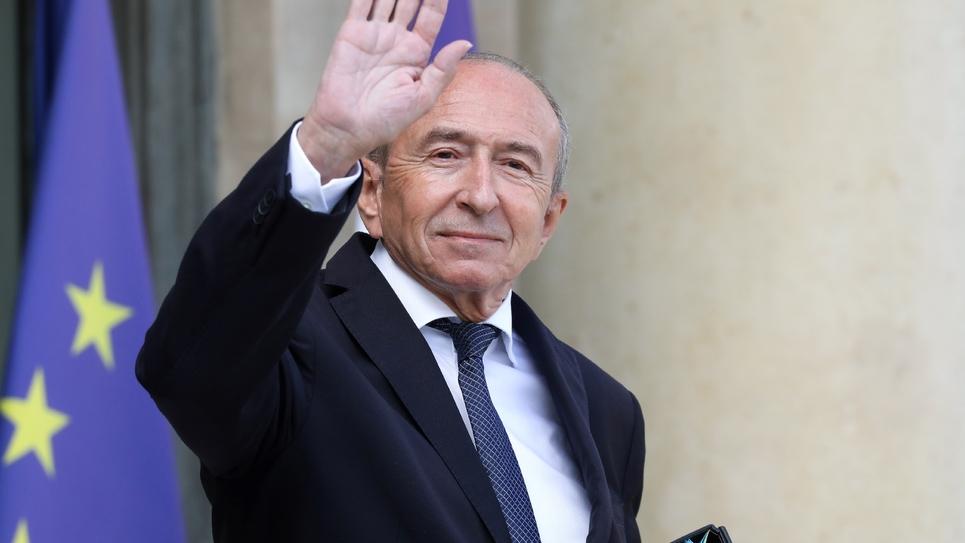Le ministre de l'Intérieur Gérard Collomb dans la cour de l'Elysée, à Paris, le 19 septembre 2018