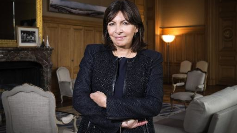La maire PS de Paris, Anne Hidalgo, le 4 mars 2015 à l'Hôtel de Ville de la capitale