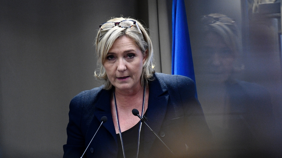 Marine Le Pen, candidate Front national à la présidentielle, à Paris le 9 décembre 2016