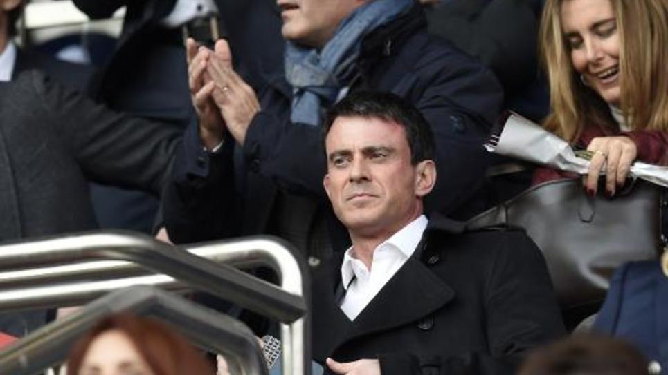 Le Premier ministre Manuel Valls le 7 mars 2015 au Parc des Princes à Paris