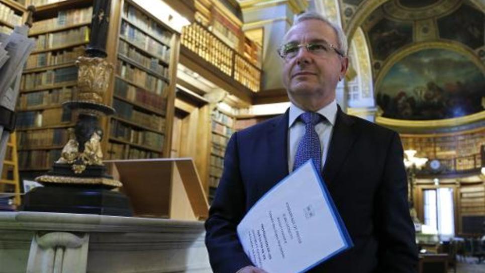 Le député UMP Jean Leonetti le 24 avril 2014 à l'Assemblée nationale à Paris