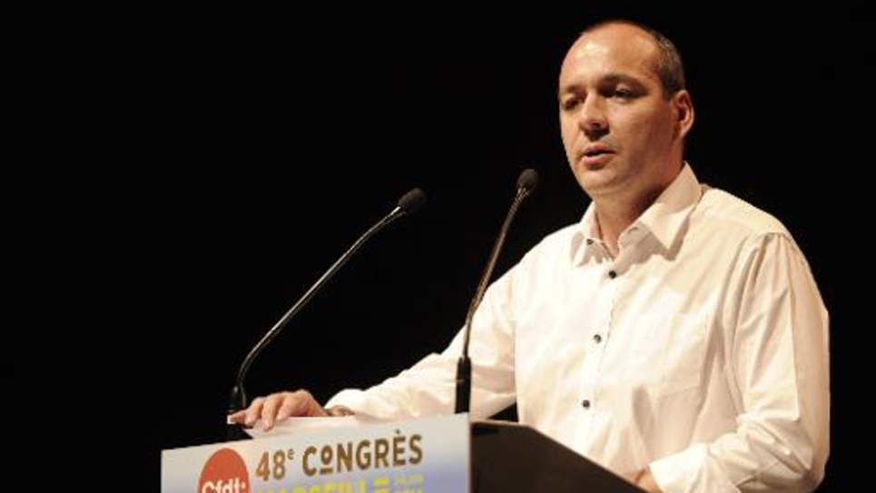 Laurent Berger, le secrétaire général de la CFDT, lors du 48e congrès du syndicat le 2 juin 2014 à Marseille
