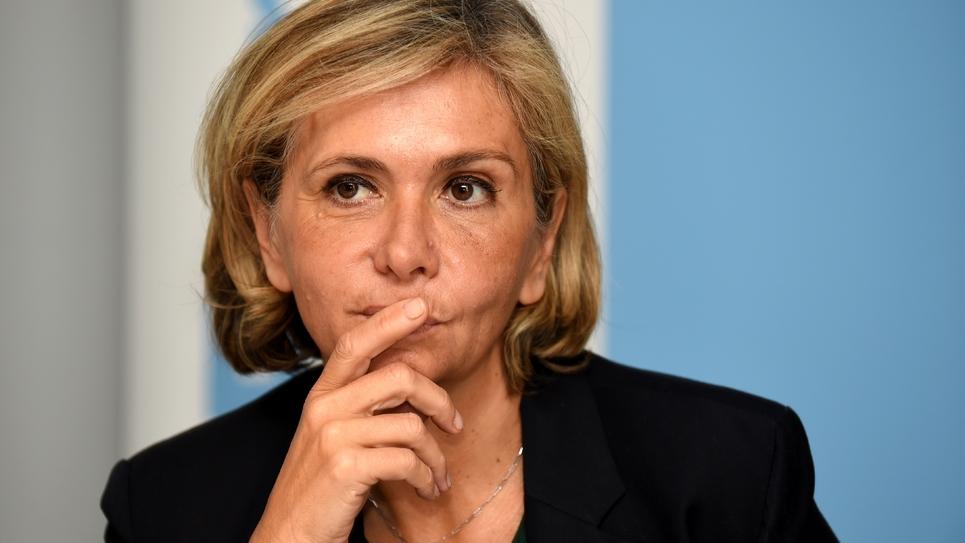 La présidente de la région Ile-de-France Valérie Pécresse lors d'une conférence de presse à Paris le 15 novembre 2017