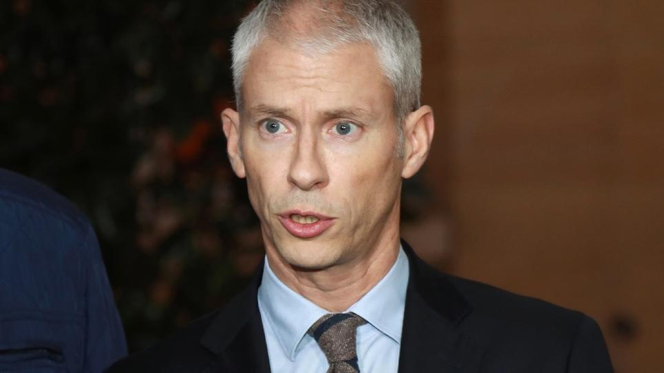 Le ministre de la Culture et président du parti Agir Franck Riester à Matignon, le 3 décembre 2018