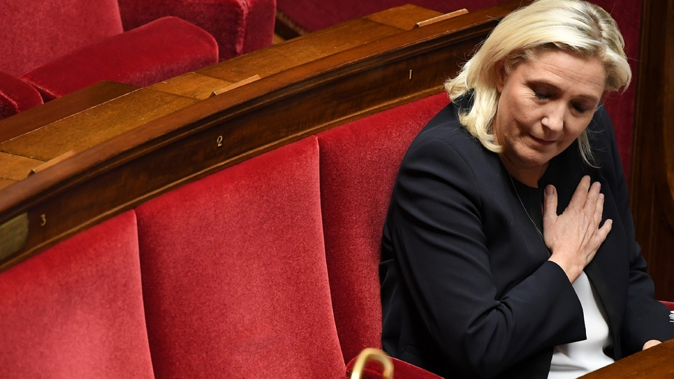 Marine Le Pen à l'Assemblée nationale à Paris le 7 octobre 2019