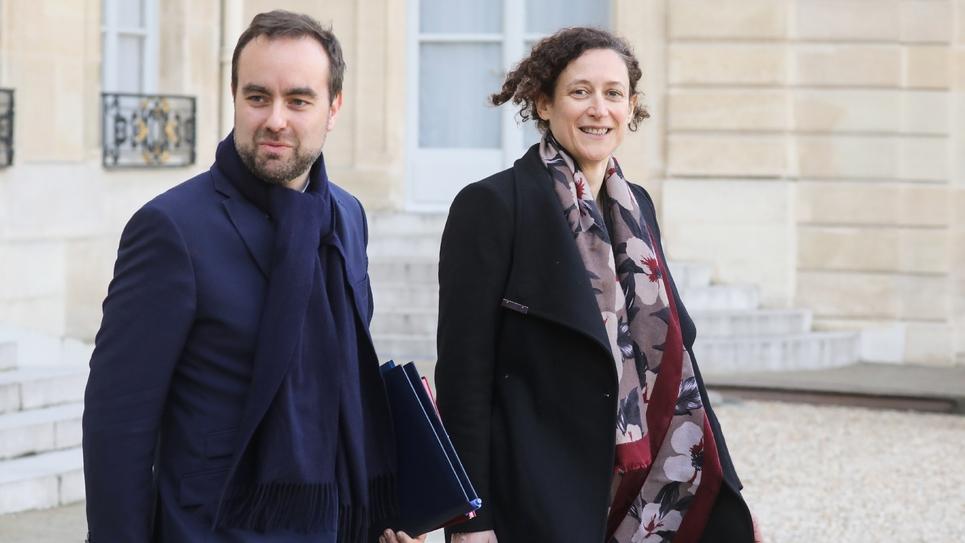 Emmanuelle Wargon et Sébastien Lecornu, le 166 jnavier 2019 à l'Elysée, à Paris