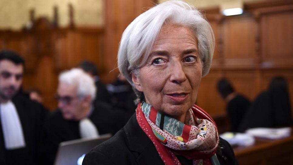 La directrice générale du FMI Christine Lagarde au Palais de justice de Paris le 12 décembre 2016