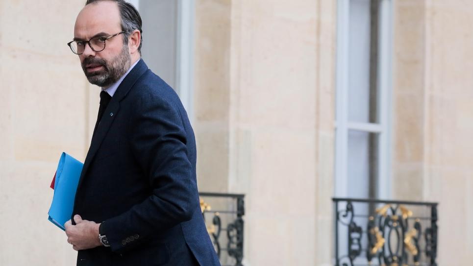 Edouard Philippe arrive à l'Elysée, le 11 février 2019