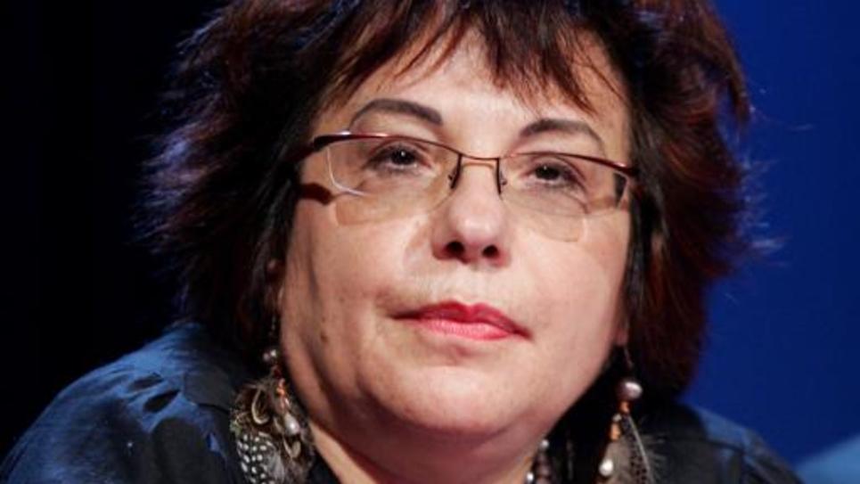 """L'historienne Esther Benbassa, est photographiée le 10 novembre 2006 à la Bibliothèque nationale de France à Paris, lors d'une conférence intitulée """"Les Juifs, Israël et la Palestine - de Massada à Ramallah"""", lors d'une journée d'hommage à l'historien décédé Pierre Vidal-Naquet"""