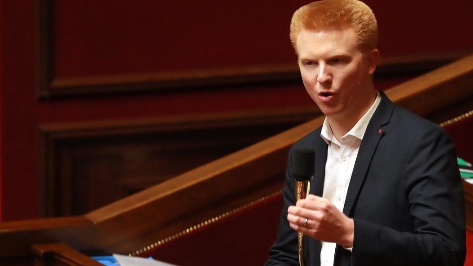 Adrien Quatennens à l'Assemblée nationale à Paris le 24 février 2020