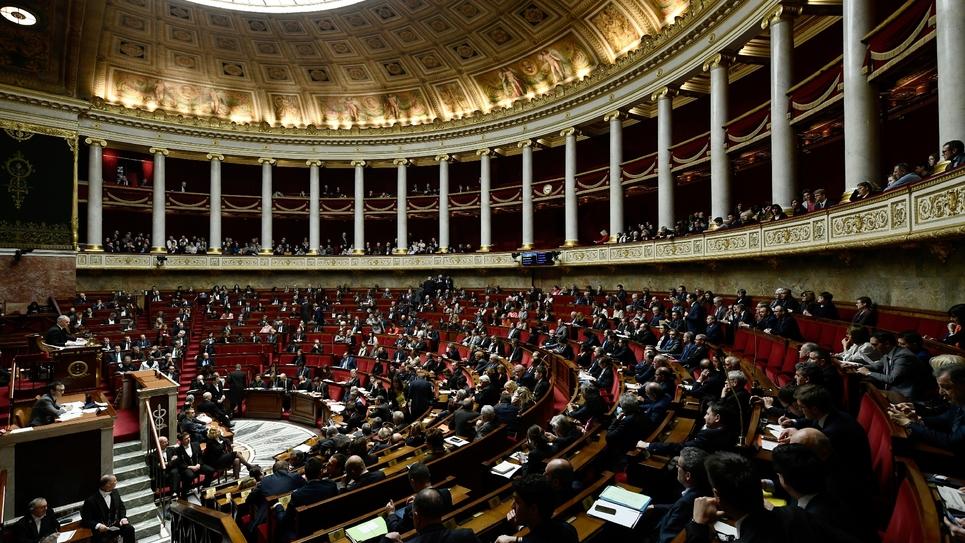 L'hémicycle de l'Assemblée nationale à Paris, le 23 janvier 2018
