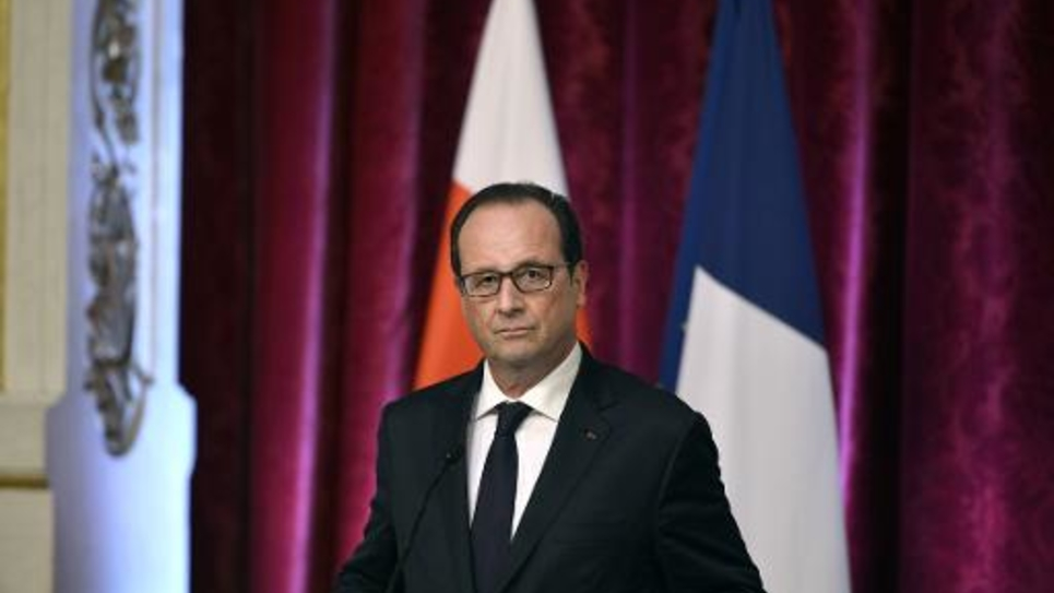 Le président français François Hollande lors d'une conférence de presse à l'Elysée le 19 septembre avec son homologue malgache