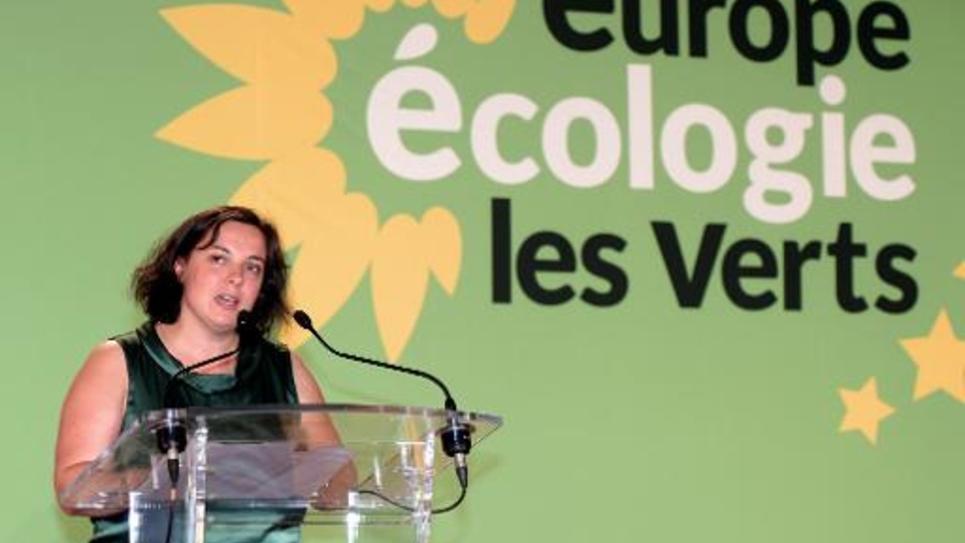 Emmanuelle Cosse, secrétaire nationale d'Europe Écologie-Les Verts, le 23 août 2014 à Pessac
