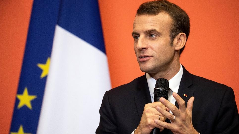 Le président français Emmanuel Macron à Lens, le 9 novembre 2018