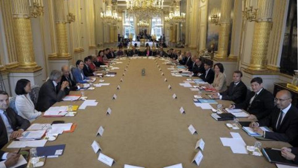 Vue générale du conseil des ministres du gouvernement Valls II, à l'Elysée le 27 août 2014