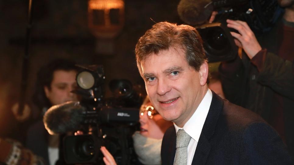 Le candidat à la primaire du PS Arnaud Montebourg à Paris, le 4 janvier 2017