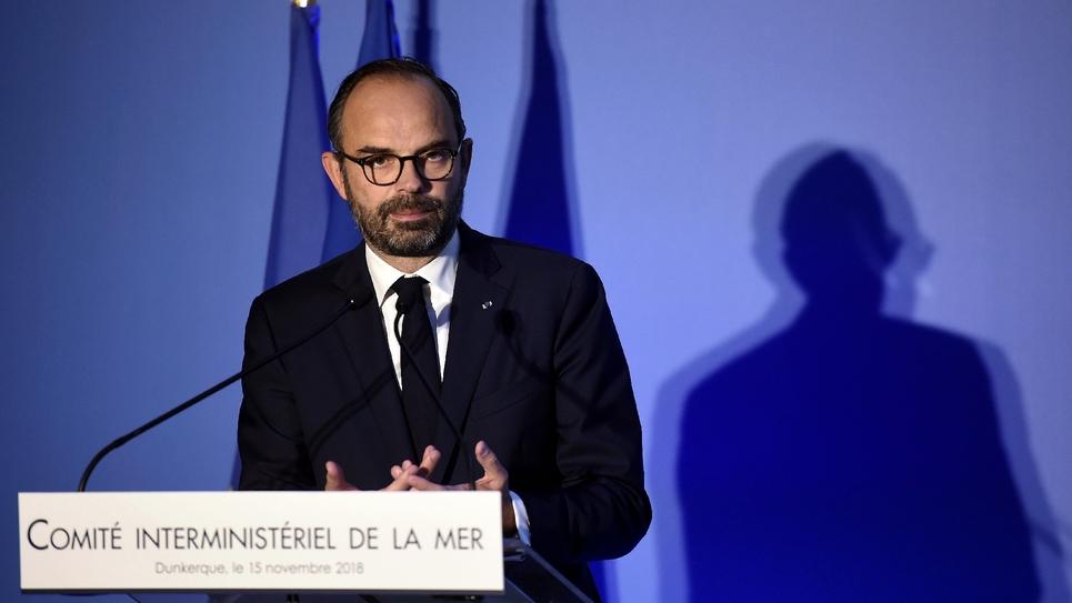 Le Premier ministre Edouard Philippe à Dunkerque, le 15 novembre 2018