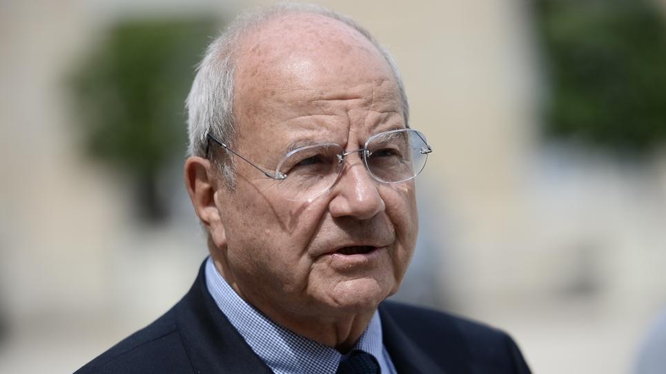 Le propriétaire de la Revue des Deux Mondes, Marc Ladreit de Lacharrière, le 10 juin 2016 au palais de l'Élysée