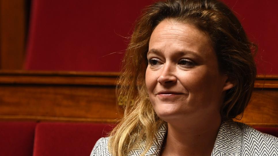 La députée LREM Olivia Grégoire à l'Assemblée nationale, le 16 mai 2018 à Paris