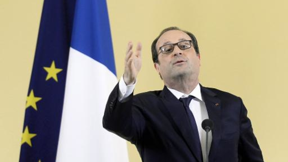 François Hollande lors d'un discours, le 1er mai 2015 à Paris