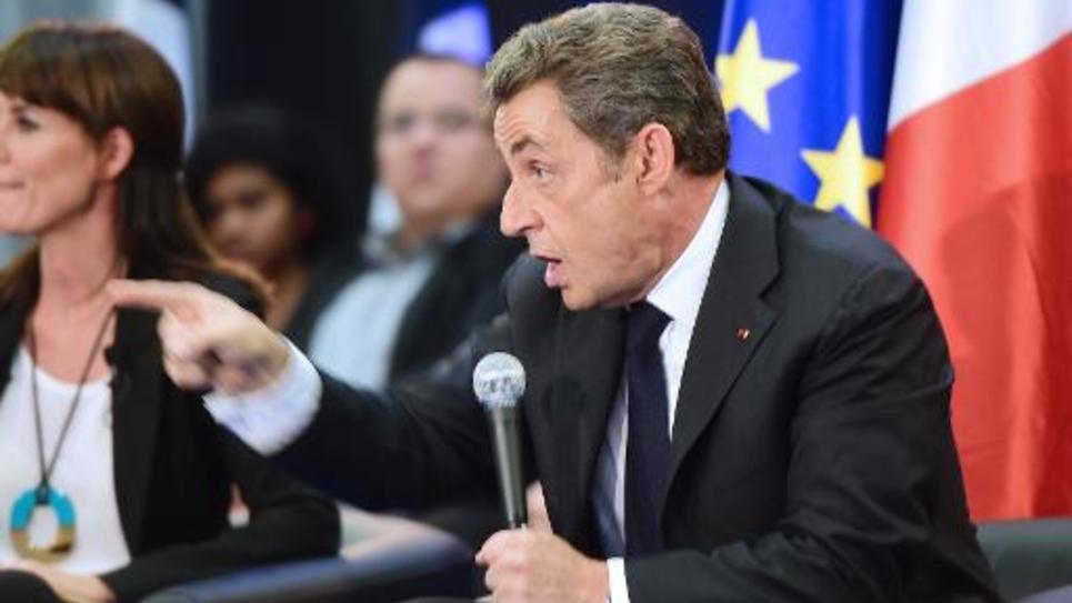 Nicolas Sarkozy, le 8 octobre 2014 en meeting à Toulouse