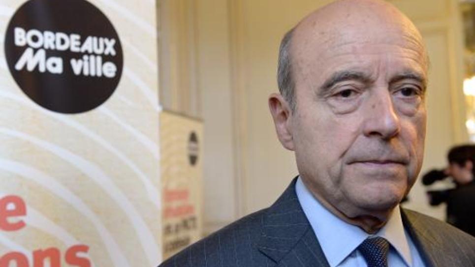 Alain Juppé, maire UMP de Bordeaux et candidat à la primaire à droite, le 17 novembre 2014 à Bordeaux