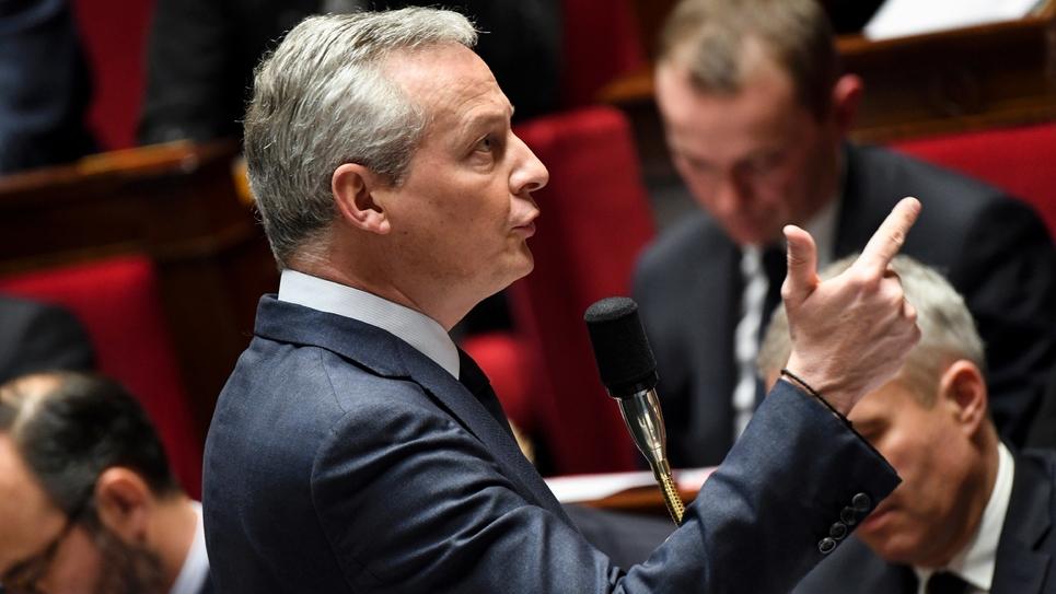 Bruno Le Maire lors des questions aux gouvernement à l'Assemblée nationale, le 12 décembre 2018