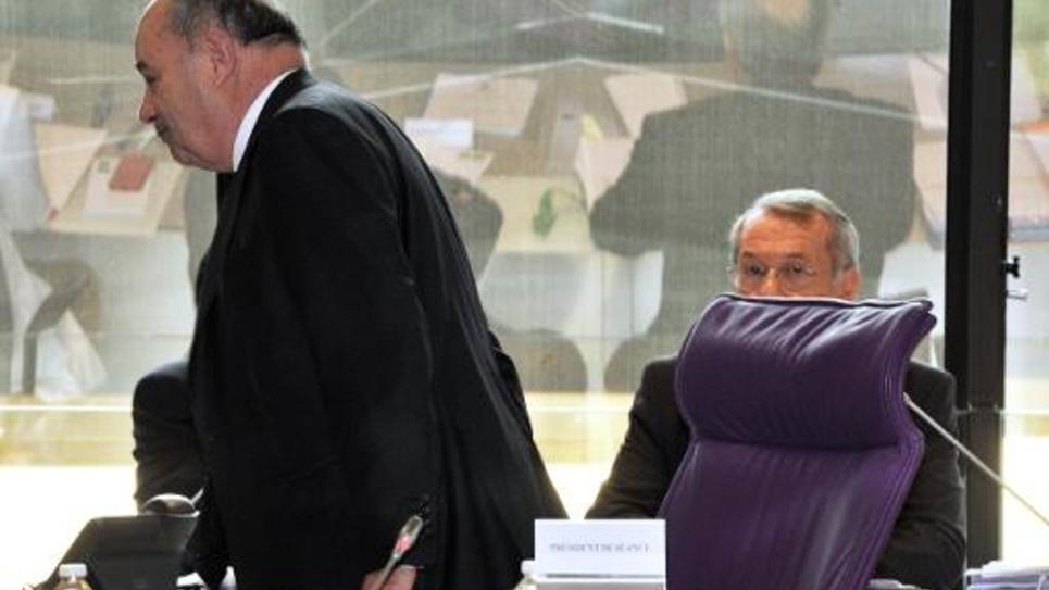 Jean-Michel Baylet, président du PRG, le 2 avril 2015 lors de l'élection à la présidence du département du Tarn-et-Garonne