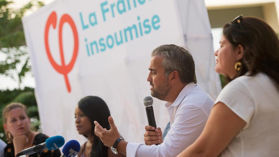 Alexis Corbière, membre de la France insoumise lors des journées d'été du parti à Marseille, le 25 août 2017